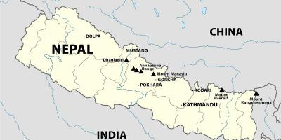 Mount Everest Nepal Kartta Mt Everest Nepal Kartta Etela Aasia